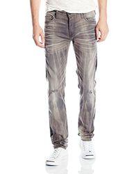 ba633fc63 Lyst - True Religion Rocco Slim-fit Grey Renegade Jean in Gray for Men
