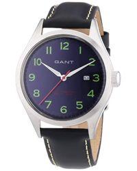 Gant Blue Quartz Watch W70462 With Leather Strap for men