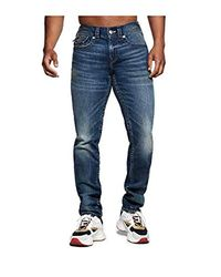 True Religion Blue Rocco Skinny Fit Stretch Jeans for men