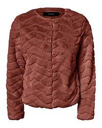 Vero Moda Brown 10214984 Fur Coat Woman