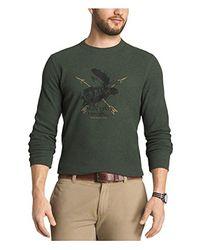 G.H.BASS - Green . Textured Striped Long Sleeve Crew Neck Shirt for Men - Lyst