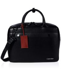 United Pu Laptop Bag Calvin Klein pour homme en coloris Black