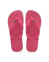 Havaianas Unisex-Erwachsene Brasil Zehentrenner, Pink (Tulip), 37/38 (35/36 Brazilian)