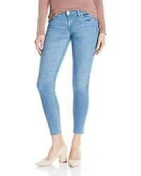 True Religion Blue Casey Low Rise Super Skinny Jean With Flap