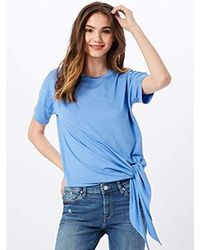 Vero Moda Blue Vmvanessa Ss Tie Top Jrs T-Shirt