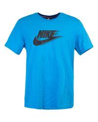 Nike CJ T-Shirt in Blue für Herren