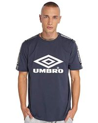 Umbro T-shirts Taped Blue S for men
