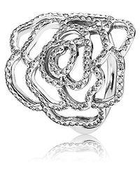Anneau 190950CZ ligne de bijoux Pandora en coloris Metallic