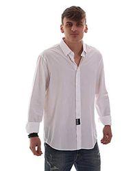 B1GVB6R065036003 Camicia Uomo di Versace Jeans in White da Uomo