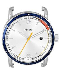 Fossil Metallic Head' Quartz Stainless Steel Casual Watch, Color:silver-toned (model: C221052) for men