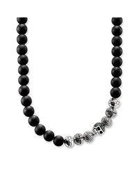 Thomas Sabo Herren-Perlenketten 925 Sterlingsilber KE1100-159-11-M in Metallic für Herren