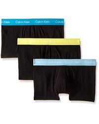 Calvin Klein Black Cotton Stretch Low Rise Trunks for men