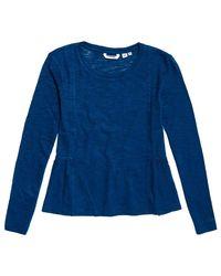 Peplum Rodeo T-Shirt Rodeo Blue S Superdry