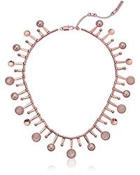 Kenneth Cole Multicolor S Blush Moonstone And Pearl Collar Necklace, One Size