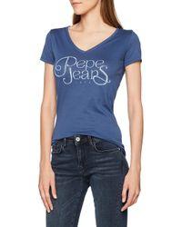 Pepa T-Shirt di Pepe Jeans in Blue