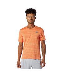 New Balance Orange Shirt - Aw20 - Large for men