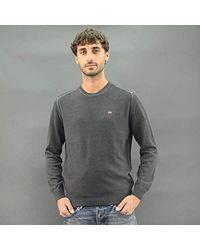 Napapijri Gray Shirt Cotton Daho N0yf31 Mainapps for men