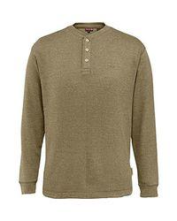 Wolverine Green Walden Long Sleeve Blended Thermal 3 Button Henley Shirt for men