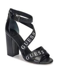 FL6KO2LEA03 Sandalo Tacco Alto (39 EU di Guess in Black