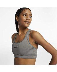 W Np Pro Classic Swoosh Bra, Sujetador deportivo para Mujer Nike de color Gray