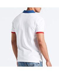 Polo Levis Colorblock Bianco di Levi's in White da Uomo