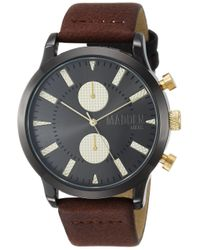 Steve Madden Brown Fashion Watch (model: Smms026tg for men