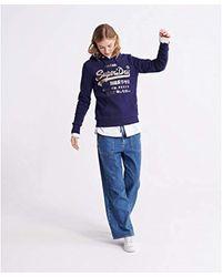 Premium Goods Metallic Sweatshirt Atlantic Navy S Superdry en coloris Blue