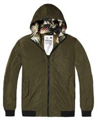 Scotch & Soda Short Hooded Nylon Jacket Jacke in Green für Herren
