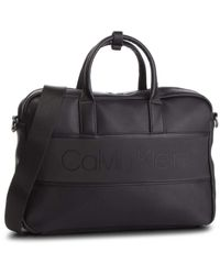 Strike Slim Laptop Bag Black Calvin Klein pour homme