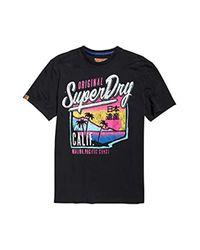 Acid Pacifica Oversized tee, Camiseta de Tirantes para Hombre, Negro (Black 02A) XX-Large (Talla del Fabricante: 2XL) Superdry de hombre