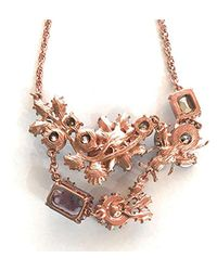 """Betsey Johnson - Purple """"spring Fling"""" Mixed Faceted Beaded Flower And Bug Necklace, 16"""" - Lyst"""