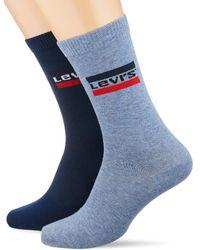 168sf Regular Cut Sprtswr Logo 2p Chaussettes Levi's pour homme en coloris Blue