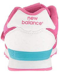 574 Hook and Loop High Visibility New Balance de color Pink