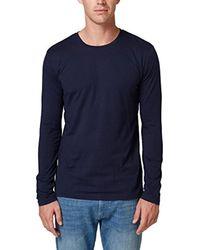 998ee2k820 T-Shirt À ches Longues Esprit pour homme en coloris Blue