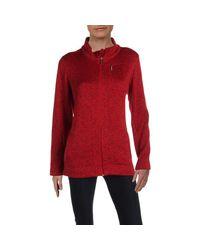 Giacca in pile da donna di Calvin Klein in Red