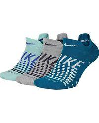 Nike Blue Performance Cushion Socken