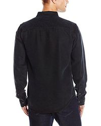 Joe's Jeans - Black Ralston Faded Denim Button Down Shirt for Men - Lyst