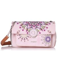 Luna Rock Zurich Across Body Bag Rosa Palido di Desigual in Pink