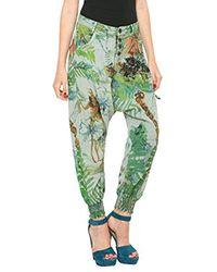 Pantalon - Droit Desigual en coloris Green