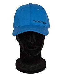 Cappello Baseball Cappellino Regolabile con Visiera CK Articolo KM0KM00133 Twill cap di Calvin Klein in Blue da Uomo