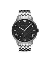 Emporio Armani Metallic Quartz Watch With Stainless-steel Strap for men