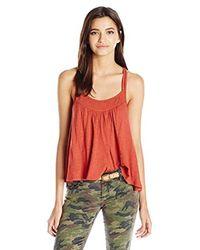 O'neill Sportswear - Red Junior's Shadow Double Spaghett Strap Tank - Lyst