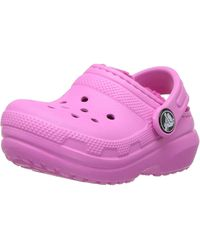 Crocs™ Pink Classic Lined Clog Kids