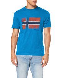 Napapijri Blue Sibu T-shirt for men