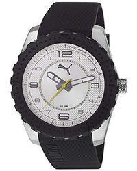 PUMA Black Cross Time Xl Quartz Watch With Analogue Display And Stainless Steel for men