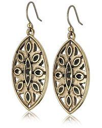 Lucky Brand - Metallic Gold Open Work Earrings - Lyst