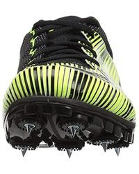 Under Armour Multicolor Kick Sprint Spike Running Shoe, High-vis Yellow (300)/white, 8 for men