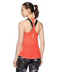 Fly By Racerback Tank di Under Armour in Red