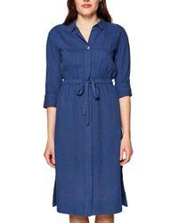 Edc By Esprit Blue 039CC1E007 Kleid