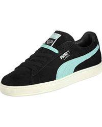 Suede Diamond Chaussures Black/Blue PUMA pour homme